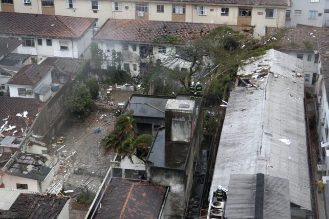 Miejsce katastrofy lotniczej w Brazylii