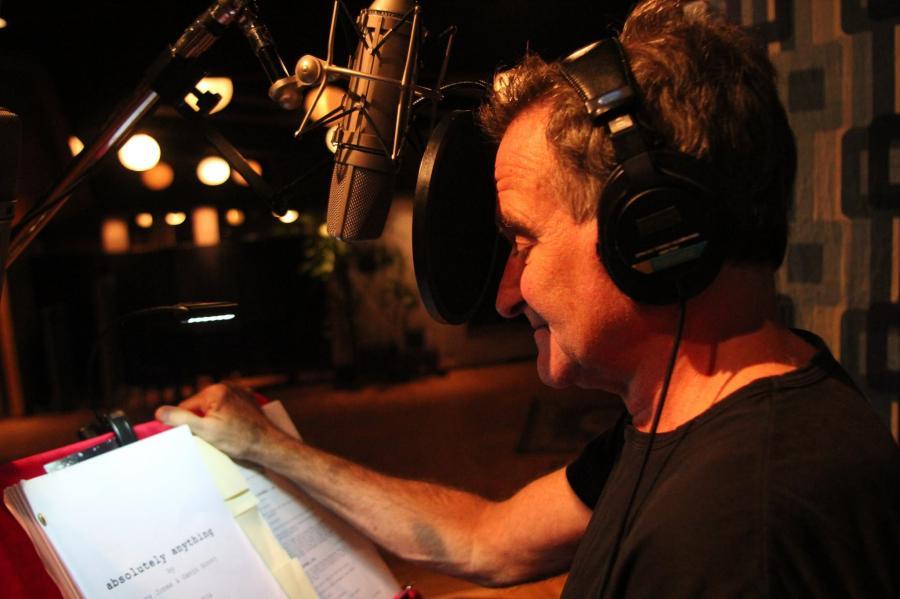 Robin Williams podczas pracy nad \