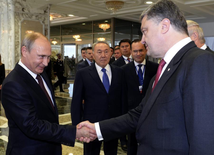 Spotkanie Władimira Putina i Petra Poroszenki