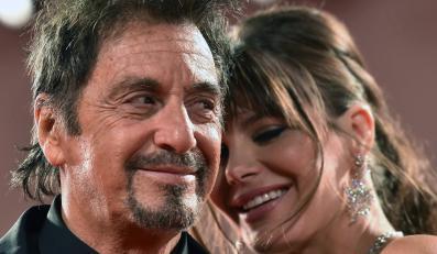 "Al Pacino i jego partnerka Lucila Sola na premierze filmu ""The Humbling"" w Wenecji"