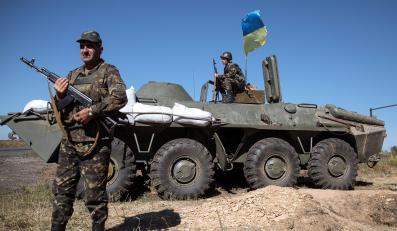 Posterunek ukraińskiej armii na wschodzie kraju