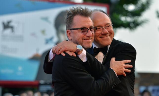 Juror Tim Roth i włoski reżyser Carlo Verdone