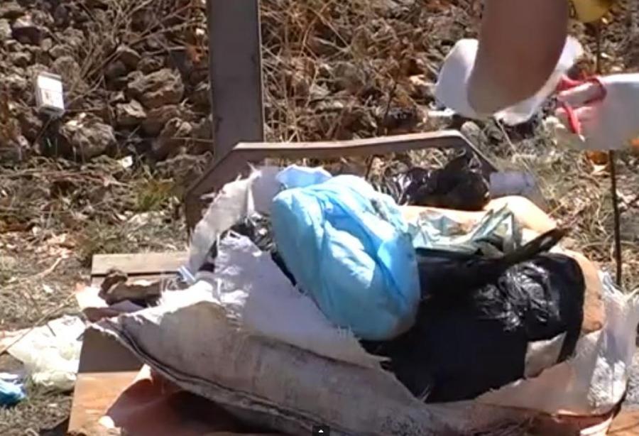 Worek z fragmentami ludzkich ciał znaleziony w lesie w obwodzie zaporoskim na Ukrainie