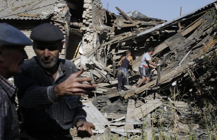 Iłowajsk na Ukrainie po bitwie Ukraińców z separatystami i wojskami rosyjskimi