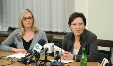 Iwona Sulik i Ewa Kopacz
