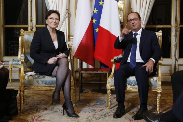 Ewa Kopacz i Francois Hollande