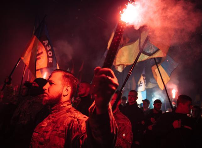 Marsze z okazji 72. rocznicy utworzenia Ukraińskiej Powstańczej Armii (UPA)