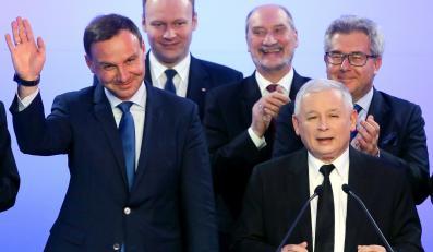 Sztab PiS i Jarosław Kaczyński