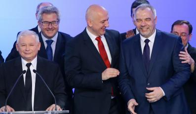 Jarosław Kaczyński, Joachim Brudziński, Jacek Sasin