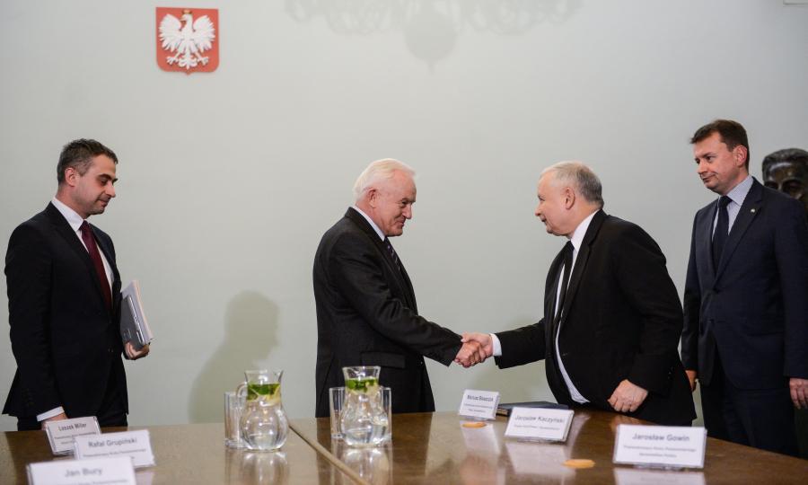 Krzysztof Gawkowski, Leszek Miller, Jarosław Kaczyński, Mariusz Błaszczak