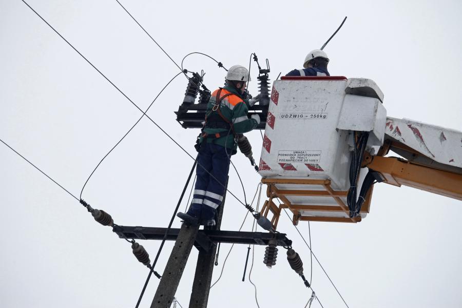 Naprawa linii energetycznych