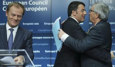 Donald Tusk, Matteo Renzi, Jean-Claude Juncker