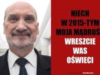 Macierewicz składa Polakom noworoczne życzenia. MEMY DNIA