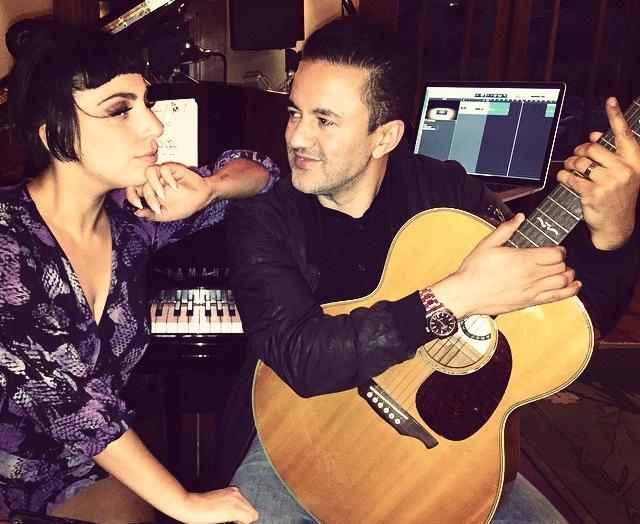 Lady GaGa i RedOne podczas wspólnej pracy