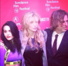 Courtney Love i Frances Bean Cobain oraz reżyser filmu Brett Morgen