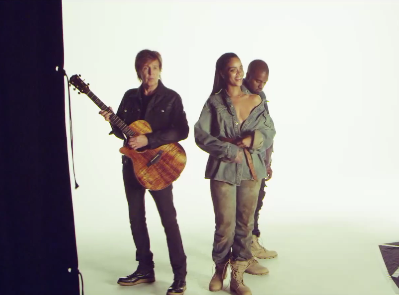 Rihanna, Kanye West i Paul McCartney w teledysku do \
