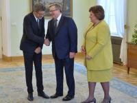 Limonkowa Anna Komorowska podejmowała zdobywców Oscara