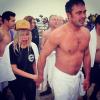 Lady Gaga i Taylor Kinney po wyjściu z mroźnego jeziora