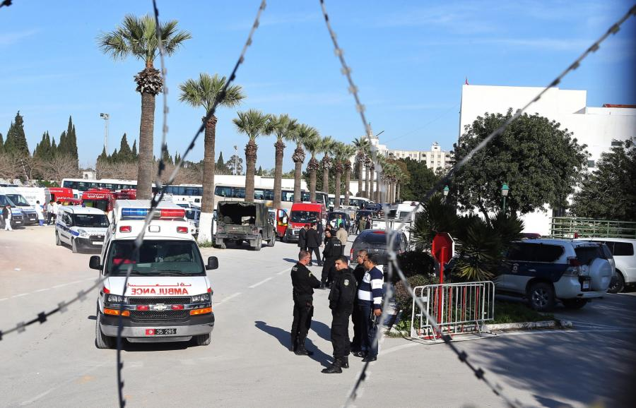 Miejsce ataku terrorystów w Tunisie w Tunezji