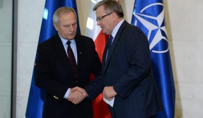Gen. Stanisław Koziej i prezydent Bronisław Komorowski