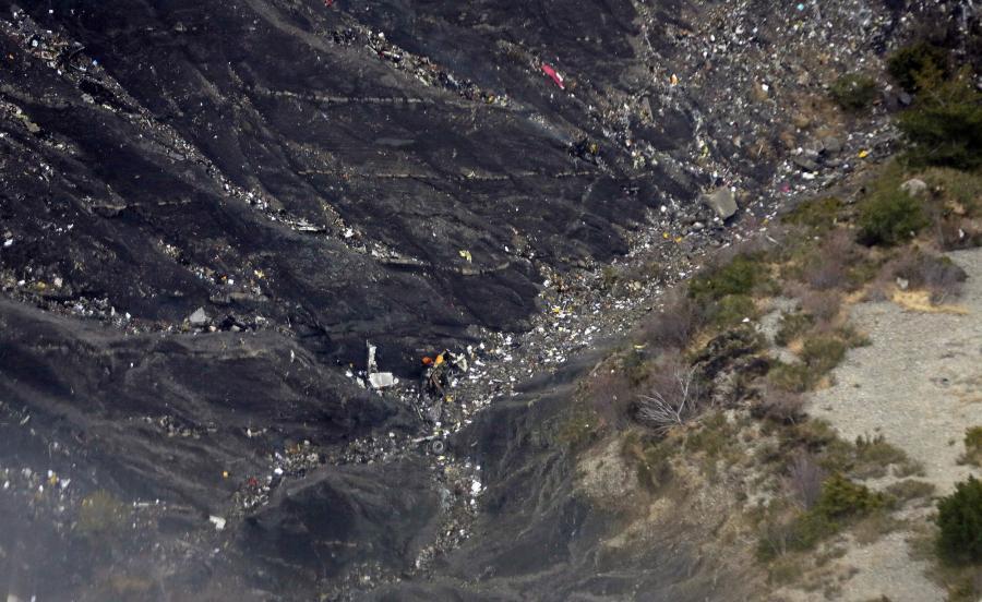 Miejsce katastrofy samolotu Airbus A320 niemieckich linii Germanwings