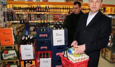 Andrzej Duda w sklepie