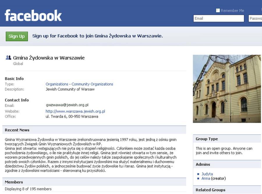 Warszawscy Żydzi trafili na Facebooka