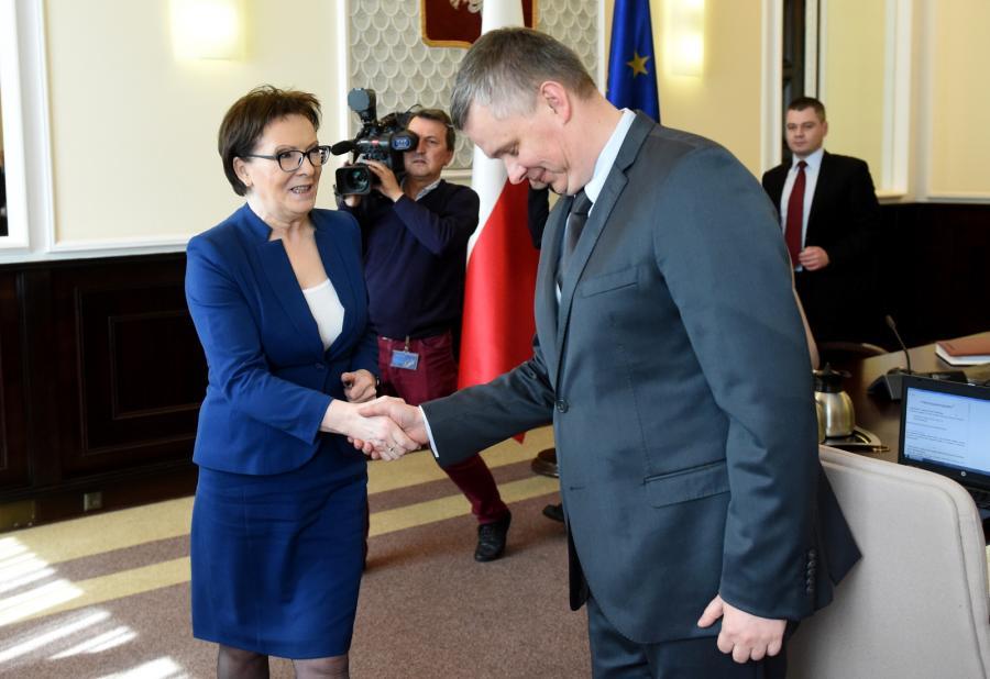 Premier Ewa Kopacz i Tomasz Siemoniak