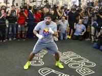 Manny Pacquiao szykuje się do walki z Floydem Mayweatherem Jr. ZDJĘCIA