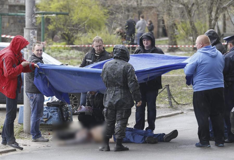 Ciało zamordowanego dziennikarza Ołesia Buzyny