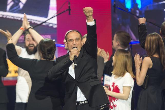 Paweł Kukiz w czasie wieczoru wyborczego