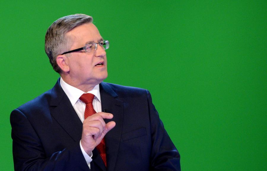 Bronisław Komorowski w czasie debaty w TVN