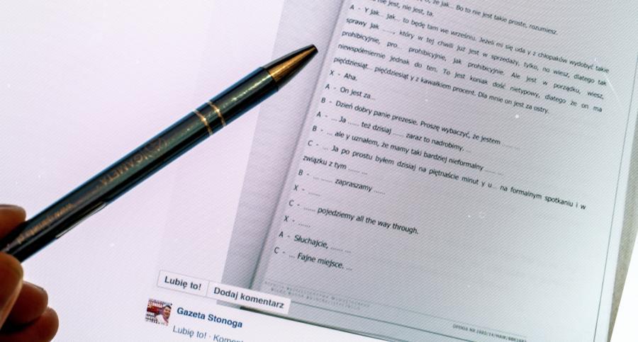Na ekranie opublikowane na portalu społecznościowym Facebook akta sprawy tzw. afery podsłuchowej