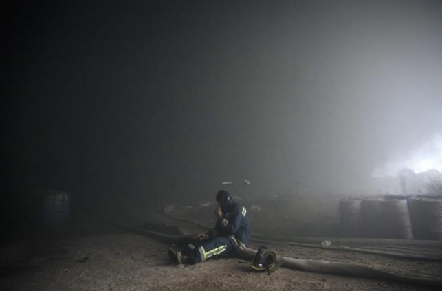 Pożar bazy paliwowej pod Kijowem