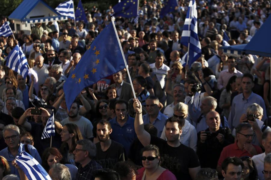Manifestacja w Grecji