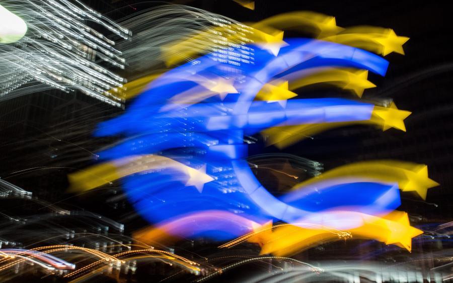 Symbol euro we Frankfurcie