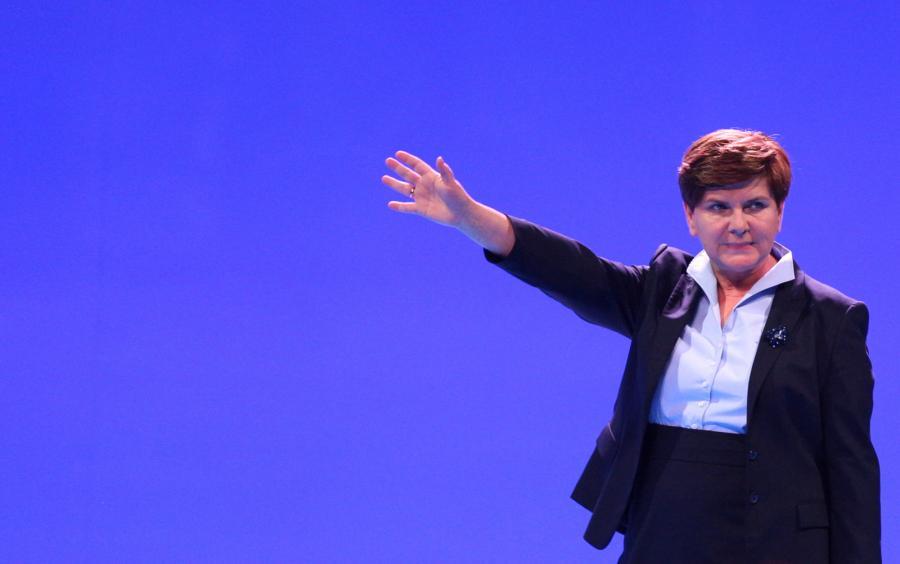 Wiceprezes PiS i kandydatka partii na premiera RP Beata Szydło