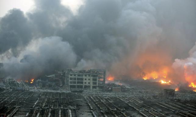 Potężny wybuch w chińskim Tiencin. Nie żyje kilkadziesiąt osób. Setki rannych