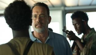 "Tom Hanks jako ""Kapitan Phillips"""