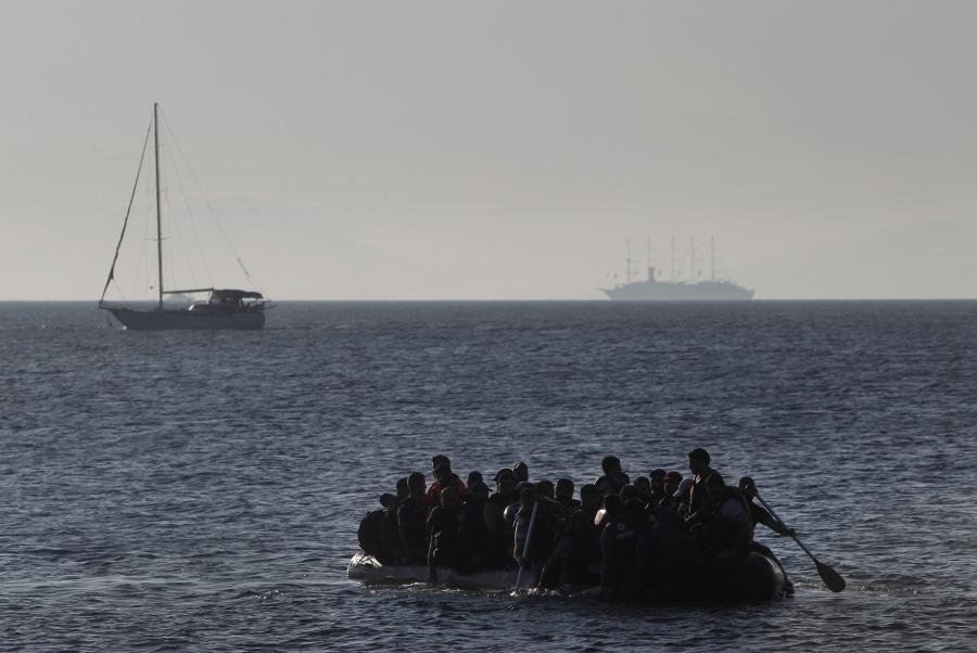 Imigranci niedaleko wyspy Kos