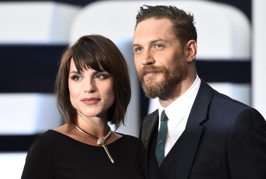Tom Hardy nowym Bondem? Tu z żoną Charlotte Riley na festiwalu w Wenecji