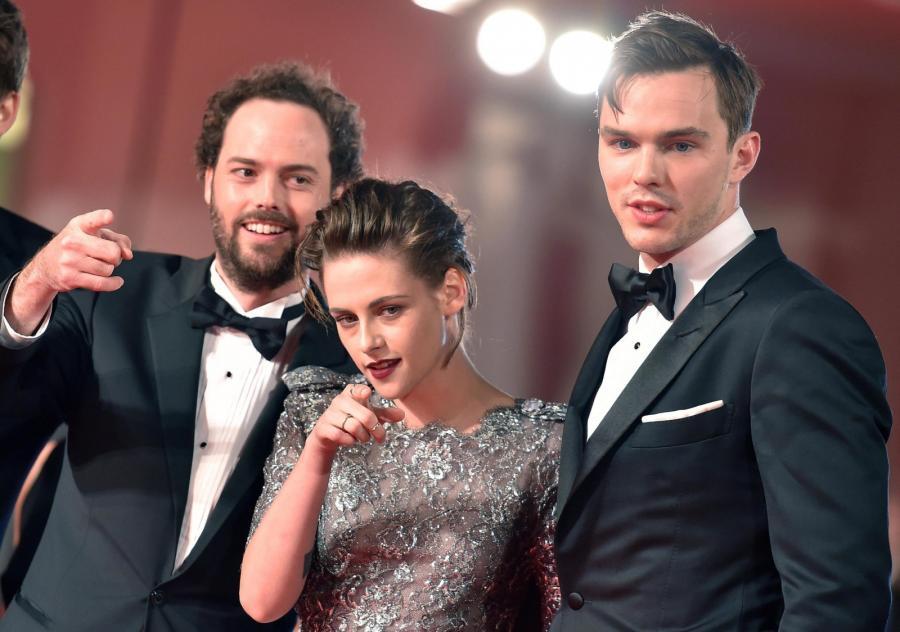 Reżyser Drake Doremus, Kristen Stewart i Nicholas Hoult na festiwalu w Wenecji