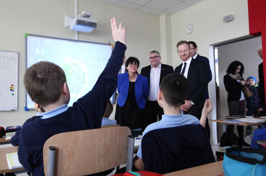 Joanna Kluzik-Rostkowska w szkole