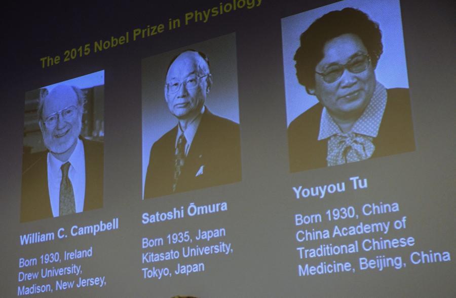 William Campbell, Satoshi Omura i Tu Youyou