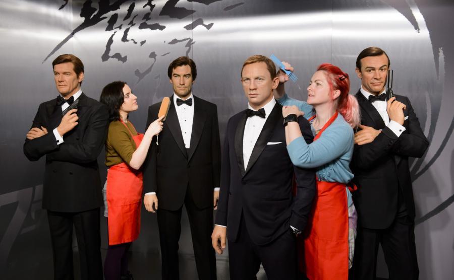 Woskowe figury Bondów w muzeum Madame Tussauds
