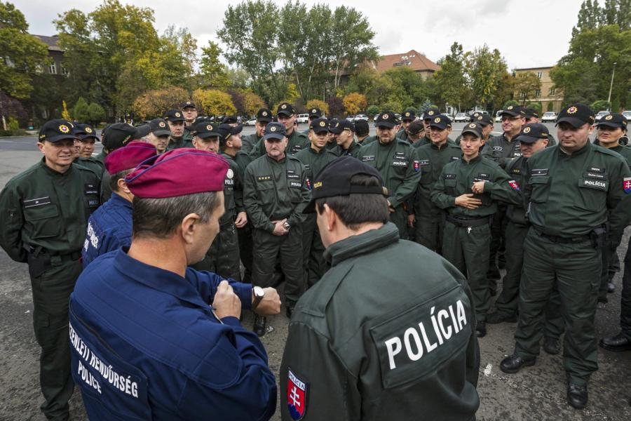 Wegierska i słowacka policja
