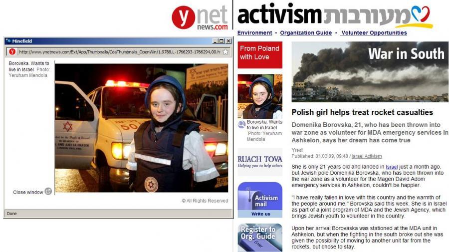 Młoda Polka ratuje Żydów przy granicy ze Strefą Gazy