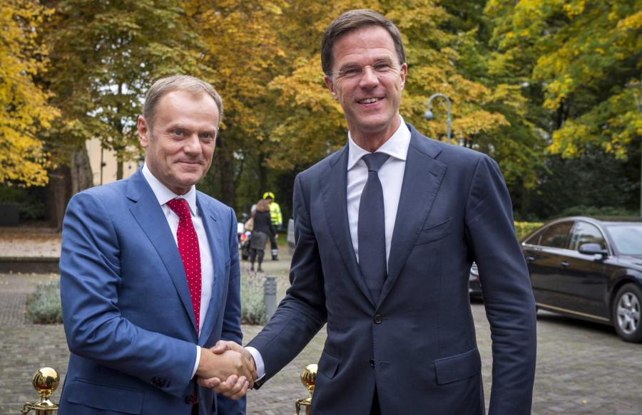 Donald Tusk i Mark Rutte