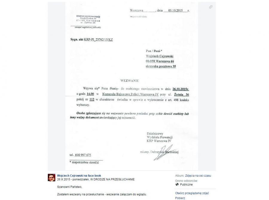 Wojciech Cejrowski wezwany na przesłuchanie w sprawie złamania ciszy wborczej