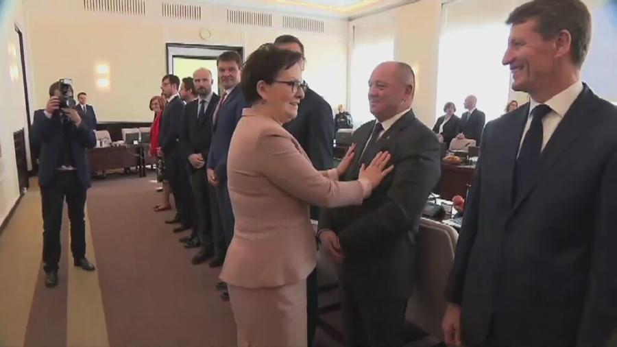 Ewa Kopacz na posiedzeniu rządu